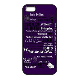 Funny SPN Supernatural Quotes Hard Phone cheated Cover no Case for iPhone 5,5S Cases idea &hong hong customize