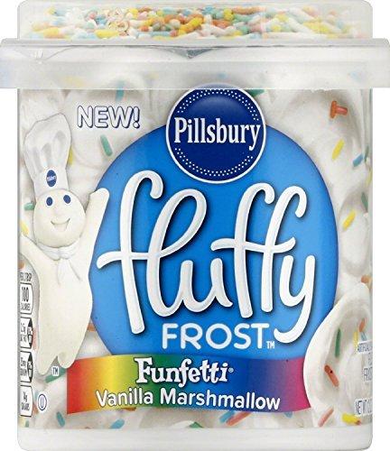 Pillsbury Funfetti Vanilla Flavored Fluffy Frosting Marshmallow, 12 Ounce (2 pack)