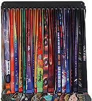 Goutoports Medal Holder Display Hanger Rack Frame for Sport Race Runner-Race Medal Hanger Holder - Sturdy Blac