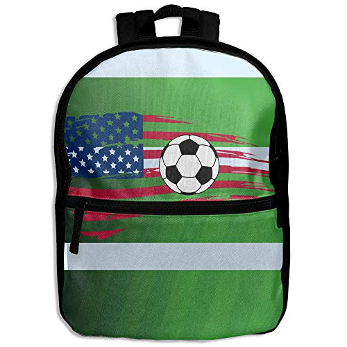 Soccer USA Flag World Cup Kids Character Casual School Backpacks (1 Usa World Cup)