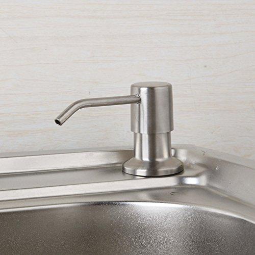 Nickel Brushed Kitchen Sink Accessories Pump Soap Dispenser Foam Liquid Bottle Stainless Steel Deck Mount by Yutfaucet (Image #1)