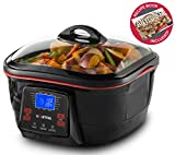 Gourmia GMC780 18 in 1 Multi Cooker With LCD Display - Deep Fry, Steam, Bake, Roast, Saute & More, Free Recipe Book & Fondue Accessories Included
