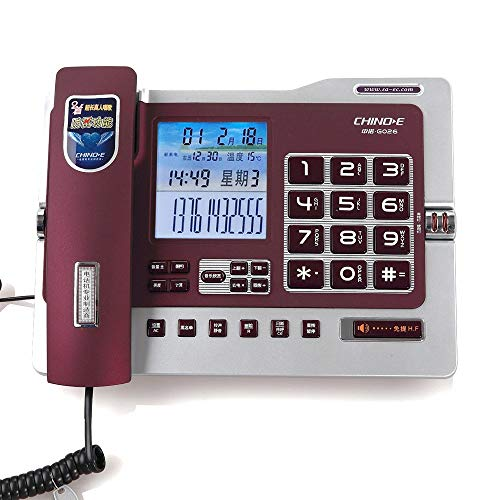 Office Caller ID Blacklist Landline Home Wired Fixed Large Screen Phone. (Color : Purple)