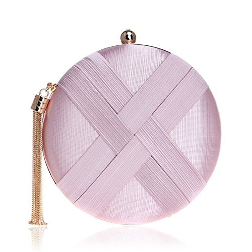 Bag Ladies Shoulder Purse Silk Bag Crossbody Clutch JESSIEKERVIN Pink Bag Evening Banquet vtqTxpwS