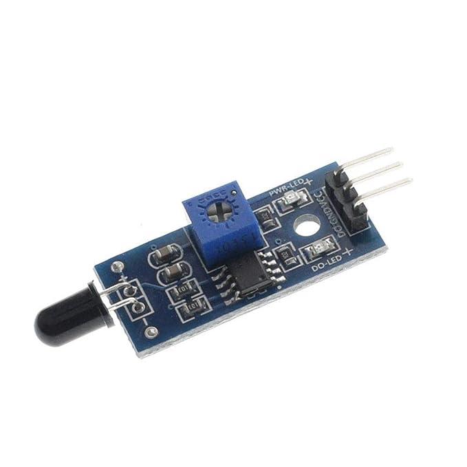 IR Sensor infrarrojo de detección de Llama de 3 Cables Módulo Sensor de Llama IR Detector Smartsense para Arduino: Amazon.es: Electrónica