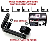 NEW * FLORADIS SMALL STAY ROLLER FLOOR GUIDE for BOTTOM of SLIDING BARN DOORS / SITS FLUSH to the FLOOR/ ULTRA SMOOTH FULLY ADJUSTABLE MULTIPLE SETUPS WALL MOUNT STOP GUIDES/ BALL BEARINGS WHEELS