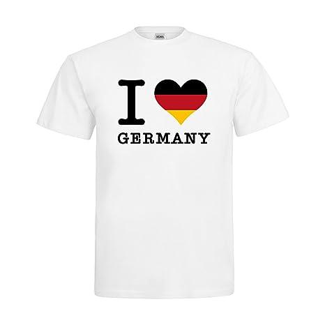 fbc286850499 mdma T-shirt I love Germany con cuore in rosso nero oro MDMA t00004 ...