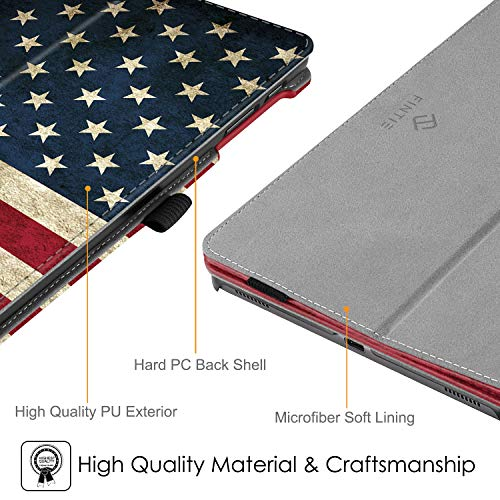 Fintie Folio Case for Samsung Galaxy Tab A 10.1 2019 Model SM-T510(Wi-Fi) SM-T515(LTE) SM-T517(Sprint), Slim Fit Premium Vegan Leather Stand Cover, US Flag
