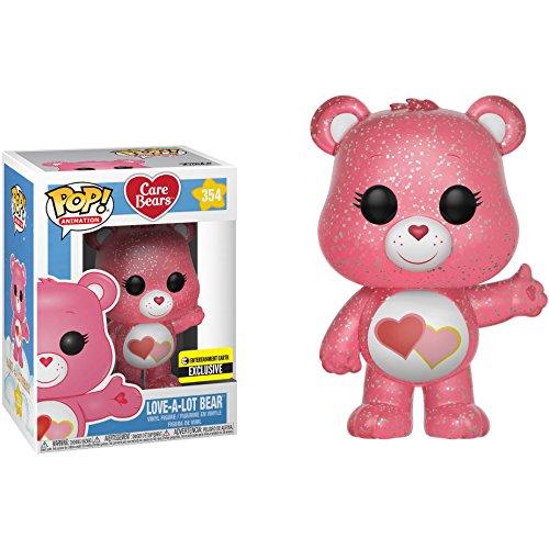 Funko Love-a-Lot Bear (EE Exclusive): Care Bears x POP! Animation Vinyl Figure & 1 POP! Compatible PET Plastic Graphical Protector Bundle [#354 / 29273 - B]