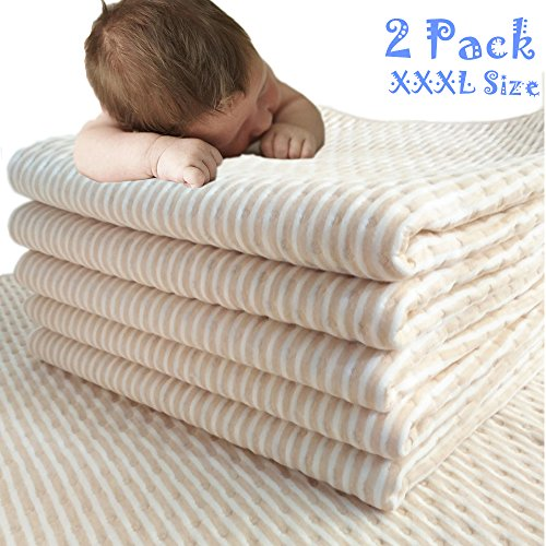 Waterproof Bed Pad,Kids Bed Pads for Potty Training,Baby Waterproof Pad for Bed Washable,Crib Mattress Protector for Baby,Washable Soaker Mattress Pad for Toddler (XXXL-47' x 28') 2 PACK