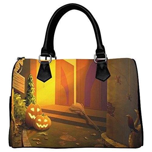 Jasonea Women Boston Handbag Top Handle Handbag Satchel The Door Of The Witch Basad109439