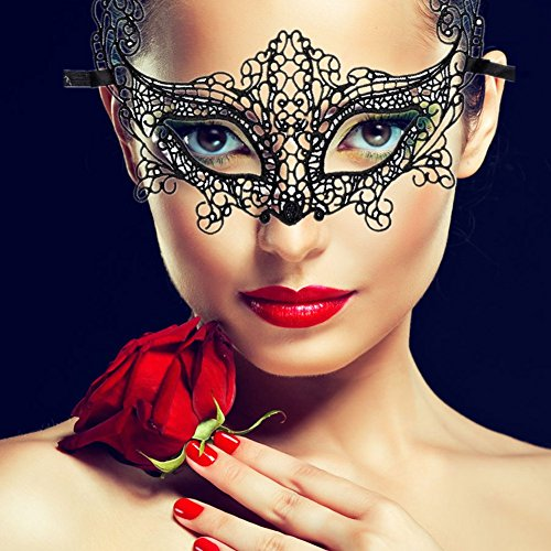Sexy Lace Mask Masquerade Party Costume Mask for Girl (Lace Black (Halloween Date Night Ideas)