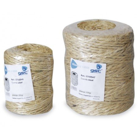 Corde en sisal naturel 48M pour griffoirs, arbres à chats etc... GSC