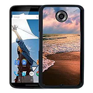 New Beautiful Custom Designed Cover Case For Google Nexus 6 With Shore Waves Phone Case