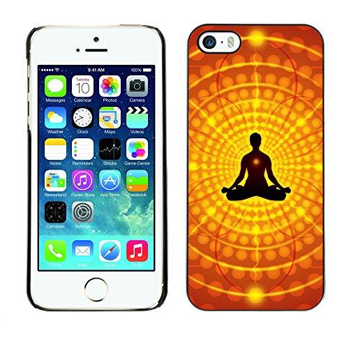Premio Sottile Slim Cassa Custodia Case Cover Shell // V00001697 méditation // Apple iPhone 5 5S 5G