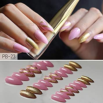 Amazon.com: Falses Nails: rosa queso lindo patrón de ...
