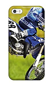 Excellent Iphone 5/5s Case Tpu Cover Back Skin Protector Yamaha Motocross Bike