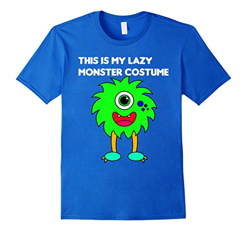 Monster High Costumes My (Mens This Is My Lazy Monster Costume T-Shirt Large Royal)