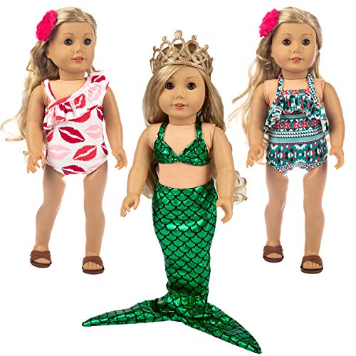 """Ecore Fun 7 Pcs 18 Inch Doll Clothes for America 18"""" Girl Doll 
