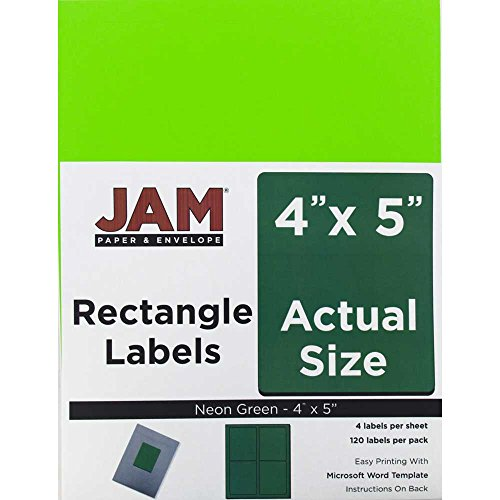 Envelope Label Template (JAM Paper Mailing Address Labels - Extra Large - 4