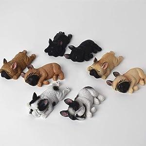 1Pcs Cute Sleeping Dog Fridge Magnetic Sticker French Bulldog Mini Toy Magnet Decor for Home