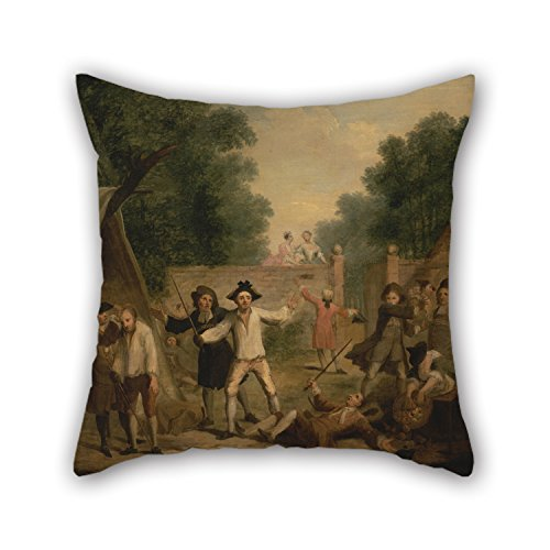 Beautifulseason 18 X 18 Inches / 45 By 45 Cm Oil Painting John Laguerre - Hob's Defence Throw Cushion Covers,twin Sides Is Fit For Relatives,bench,home Theater,floor,teens,boys (My Devil Gf)
