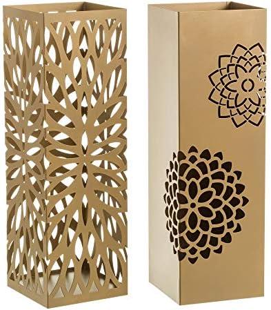 Casaselección Paragüero diseño Flores de Metal para la Entrada Color Dorado 2 diseños - Chloe Sweet Home: Amazon.es: Hogar
