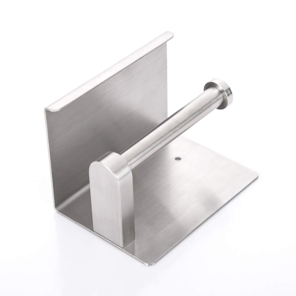 SUS304 Stainless Steel Brushed Bathroom Tissue Holder with Mobile Phone Storage Shelf RD9215-BOSSZI Bosszi Wall Mount Toilet Paper Holder