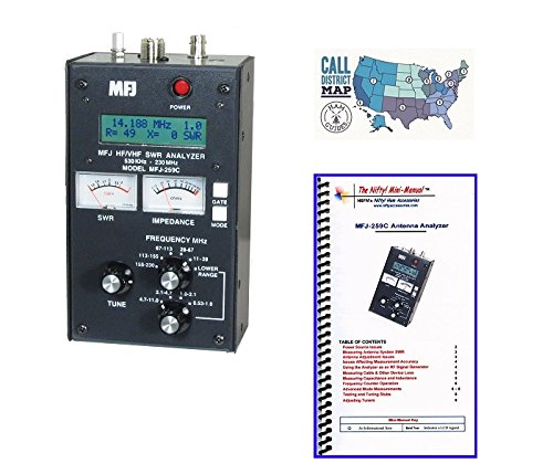 MFJ-259C Antenna Analyzer with Nifty! Quick Refernce Guide and Ham Guides Pocket Reference Card Bundle! by MFJ (Image #4)