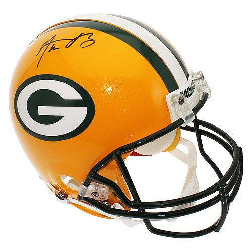 Aaron Rodgers Autographed Green Bay Packers Full Size Proline Helmet - Certified (Autographed Authentic Pro Line Helmet)