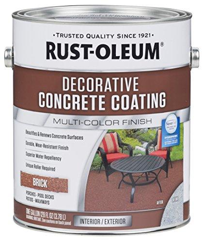 Concrete Walkway Paint (Rust-Oleum 301305 Brick Decorative Concrete Coating)