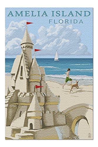 Amelia Island, Florida - Sandcastle (20x30 Premium 1000 Piece Jigsaw Puzzle, Made in USA!)