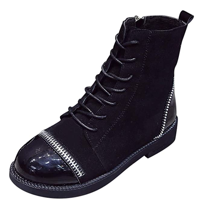 Moda Calzado Mujer Botas Zapatillas Deportivas Mujeres Estilo Europeo Moda Estilo Leopardo Cremallera Gruesa Botas Zapatos de Punta Redonda Botines Casual ...