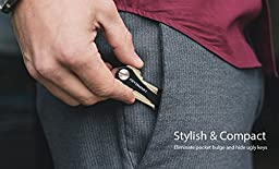 KeySmart Classic | Compact Key Holder and Keychain Organizer (2-14 Keys, Black)