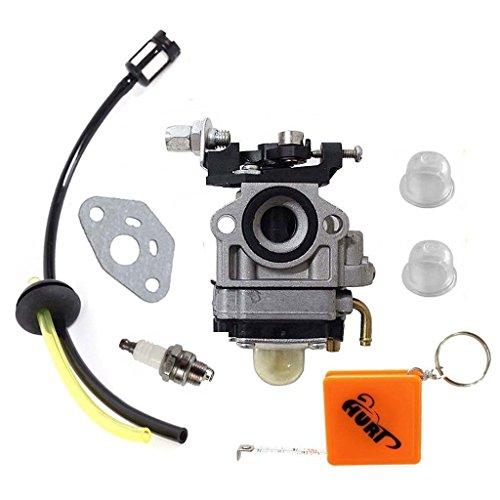 HURI Carburetor with Fuel Line Kit Spark Plug for Troy Bilt Back Pack Blower 753-06442 753-08045 Craftsman TB2BP TB2BV EC by HURI