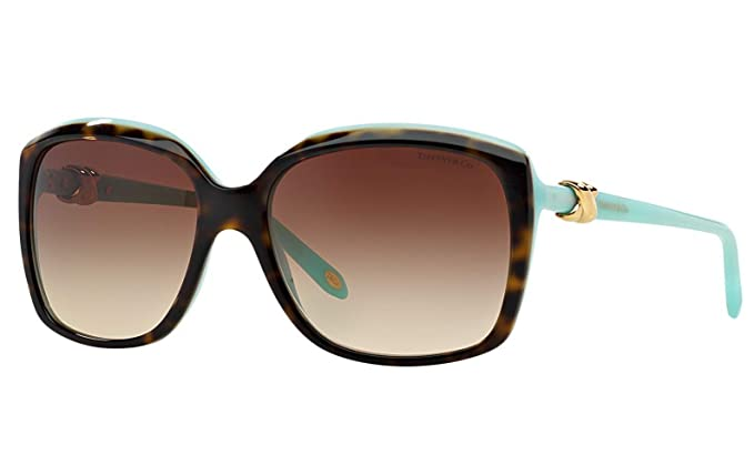 Amazon.com: Tiffany & Co. anteojos de sol tf4076 Havana/Azul ...