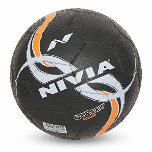 Nivia Street Rubber Football, Size 5  Black