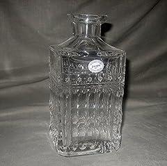 Varga Art Crystal Barcelona Whiskey Decanter W/O Stopper