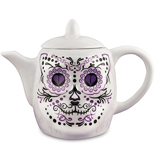 Cat Skull Porcelain Teapot Accoutrements
