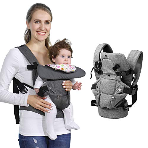 Baby Soft Carrier, 4-in-1 Ergonomic Convertible Carrier with Adjustable Straps and Breathable Mesh from zimo
