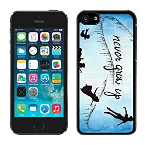 Never Grow Up Peter Pan Movie Quote Black Fantastic Design iPhone 5C Cover Case
