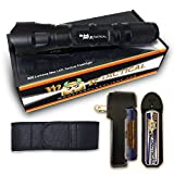 900 lumen rechargeable flashlight - MF Tactical Bravo-5 Rechargeable Tactical LED Flashlight Kit - 900 Lumen Hi Quality Pro Grade Waterproof 5 Modes: High, Med, Low, Strobe & SOS. Includes Li-ion Rechargeable Battery, Charger & Holster