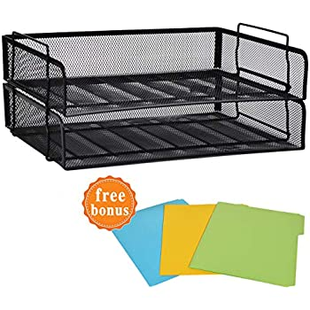 Super Amazon Com 11X17 Wire Basket Desk Tray Office Products Home Interior And Landscaping Transignezvosmurscom