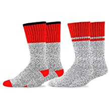 TeeHee Eco Friendly Heavy Weight Recycled Cotton Thermals Boot Socks 2-Pack