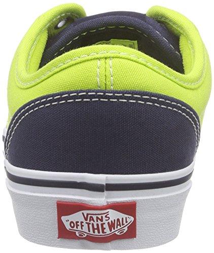 Vans Atwood, Jungen Sneakers, Mehrfarbig (2 Tone/Lime/Blue), 27.5 EU