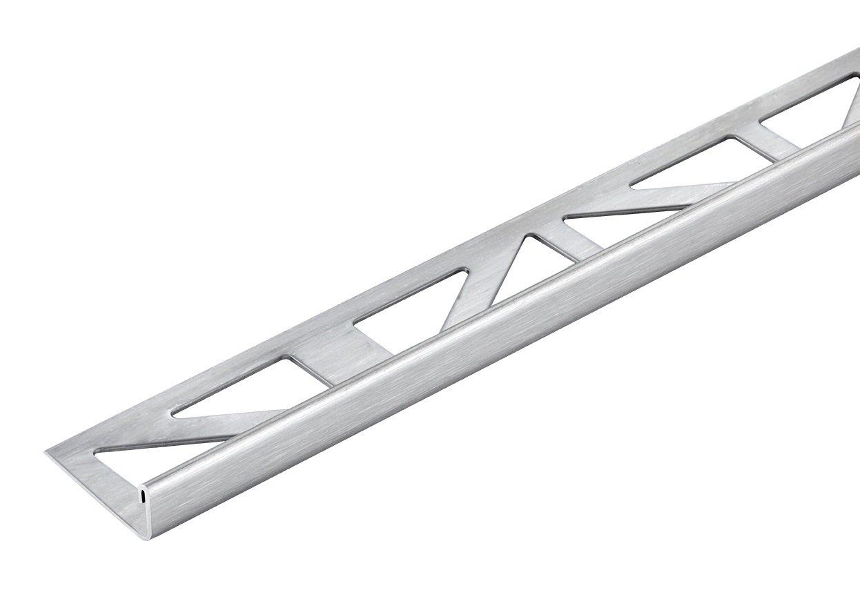Fliesenschiene Edelstahl Geb/ürstet Winkelprofil Abschlussprofil 10mm//2500mm