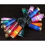 "Novelty Lights, Inc. 20LT-BUCKS-G-MU Commercial Grade Shotgun Shell Mini Light Set, Green Wire, Multi Color Shells, 20 Light, 4"" Spacing, 9' Long, Connect 14"