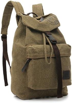Amazon.com: Nuevas Modas lona Bolsa de hombro mochila ...