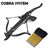 full size body targets - Cobra System Self Cocking Pistol Tactical Crossbow, 80-Pound (Fiberglass Body with 27 arrows and 2 Strings)