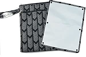 """Sarah Wells """"Pumparoo"""" for Breast Pump Parts, Wet Dry Bag with Staging Mat (Black)"""